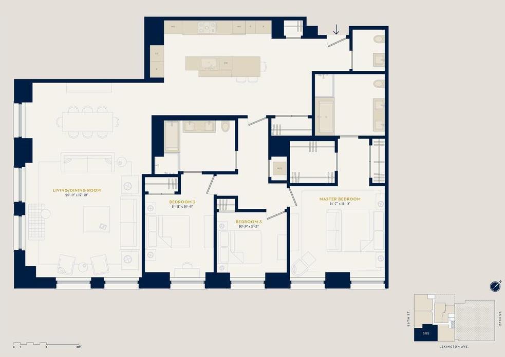 Floor Plan 88 LEX 505